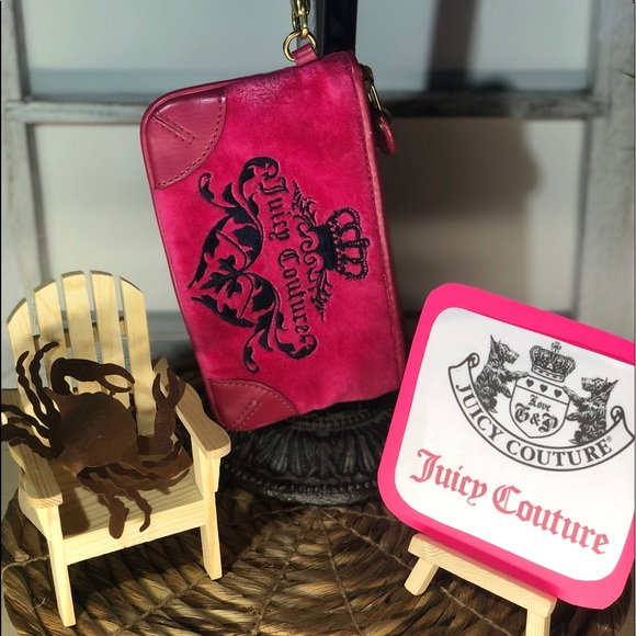 Juicy Couture Handbags - Juicy Couture - Hot Pink Wristlet